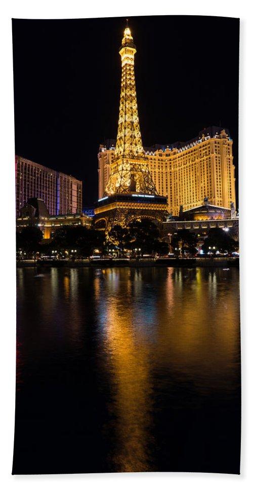 Paris Las Vegas Hotel And Casino Hand Towel featuring the photograph It's Not Paris by Georgia Mizuleva