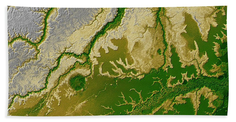 Satellite Image Hand Towel featuring the photograph Iturralde Structure, Bolivia by Science Source