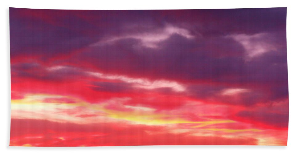 Good Bath Sheet featuring the photograph Vivid Sunset by James Welch