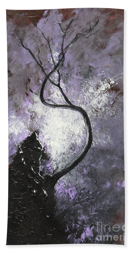 Landscape Hand Towel featuring the painting I've Survived by Stefan Duncan