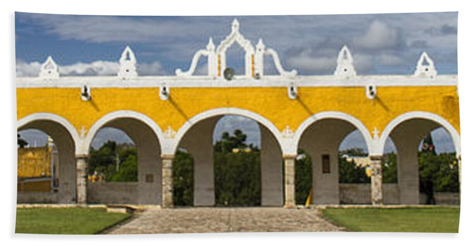 Convent Hand Towel featuring the photograph Izamal Convent by For Ninety One Days