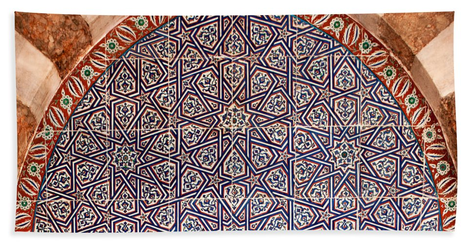 Iznik Bath Sheet featuring the photograph Iznik 06 by Rick Piper Photography
