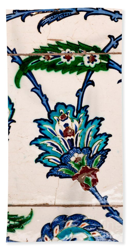 Istanbul Hand Towel featuring the photograph Iznik 21 by Rick Piper Photography