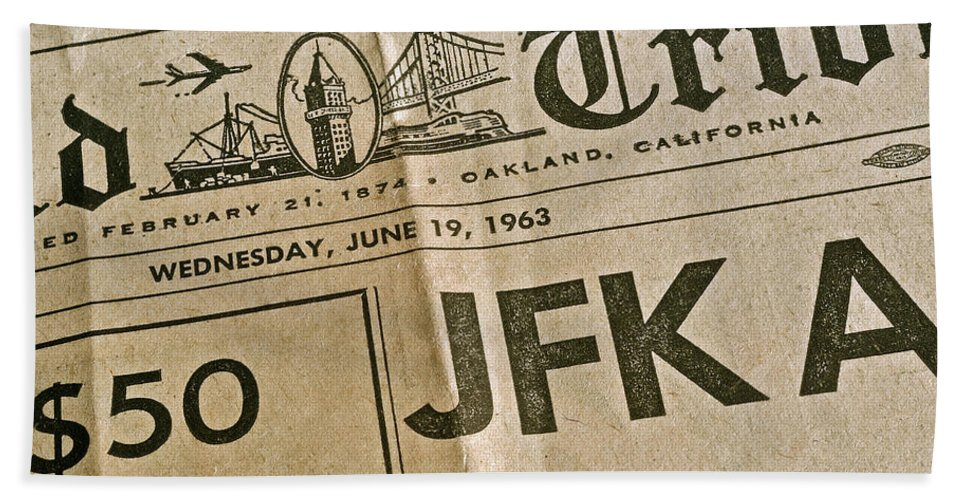 Juneteenth 1963 Hand Towel featuring the photograph J F K Remembrance by Bill Owen