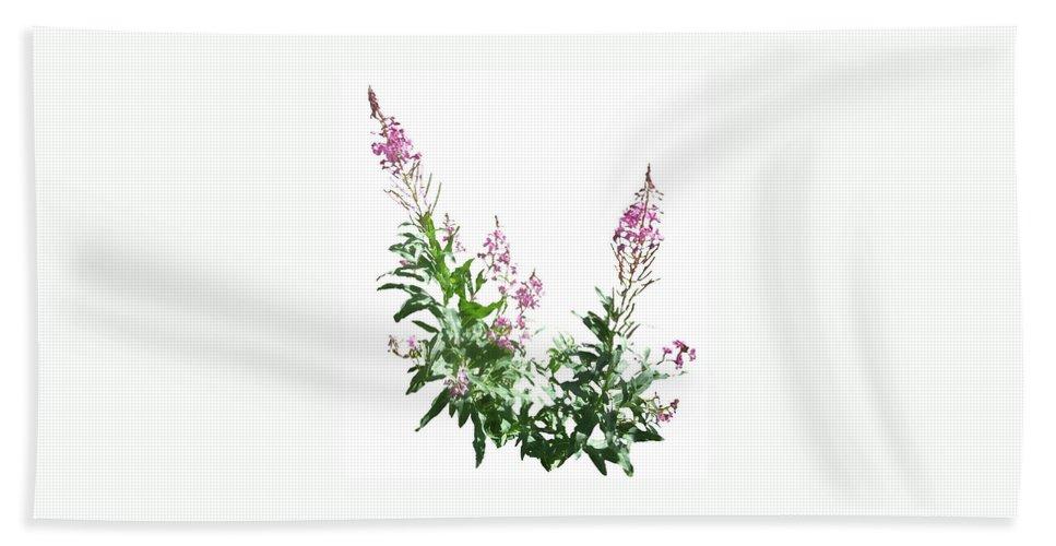 Yukon Bath Sheet featuring the digital art J7137 by Jill Walton