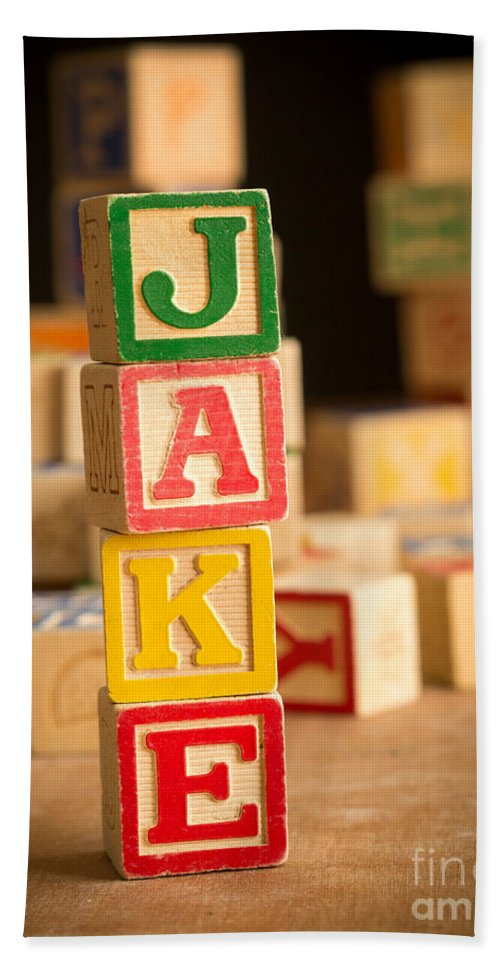 Abcs Bath Towel featuring the photograph Jake - Alphabet Blocks by Edward Fielding