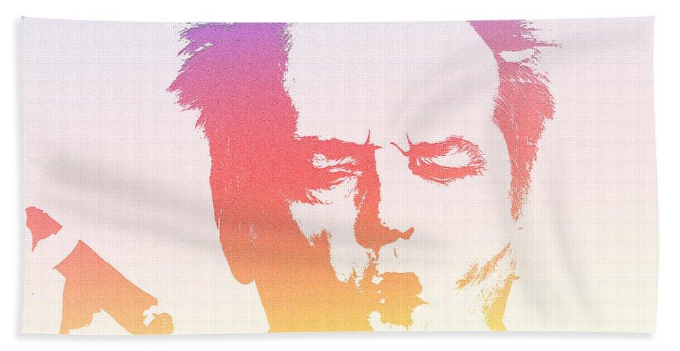 Jack Nicholson Bath Sheet featuring the photograph Jack Nicholson - 2 by Chris Smith