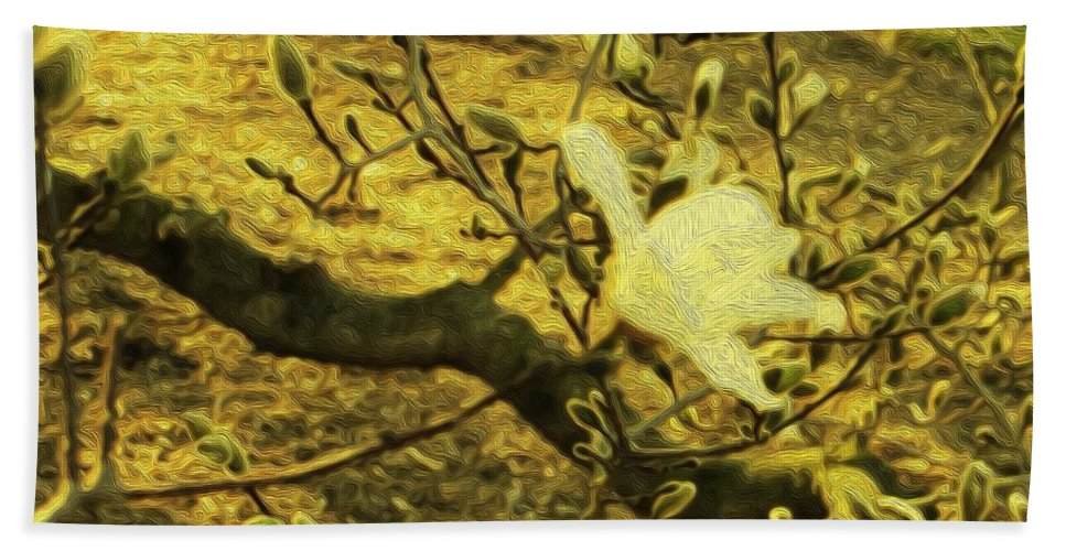 Life Force Hand Towel featuring the photograph Jade Orchid by Sonali Gangane