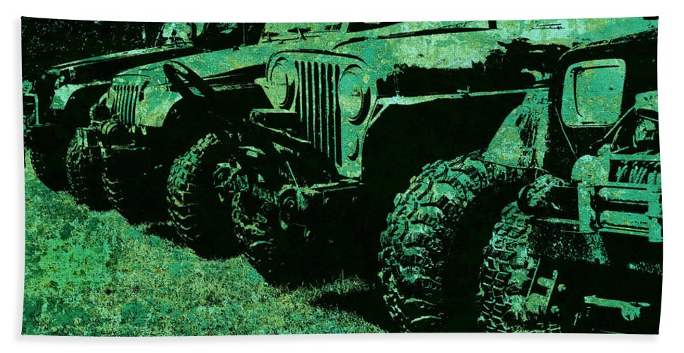 Jeep Hand Towel featuring the photograph Jaded Sticks And Stones... Won't Break My Bones by Luke Moore