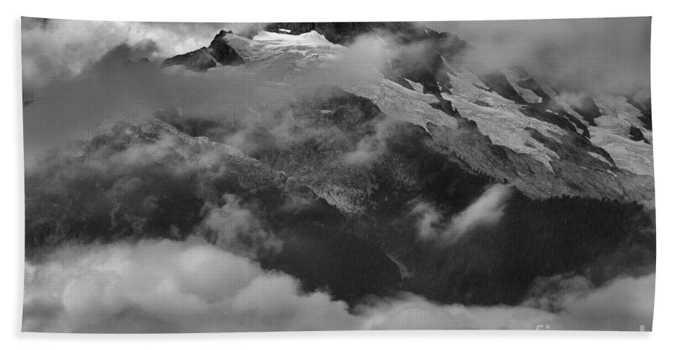 Tantalus Bath Sheet featuring the photograph Jagged Peaks Glaciers And Storms by Adam Jewell