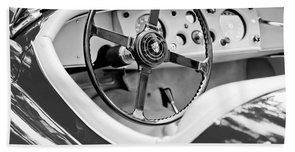 Jaguar Bath Sheet featuring the photograph Jaguar Steering Wheel 2 by Jill Reger