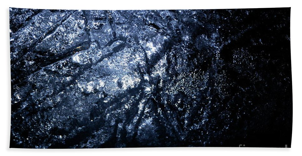 Gray Hand Towel featuring the photograph Jammer Blue Hematite 001 by First Star Art