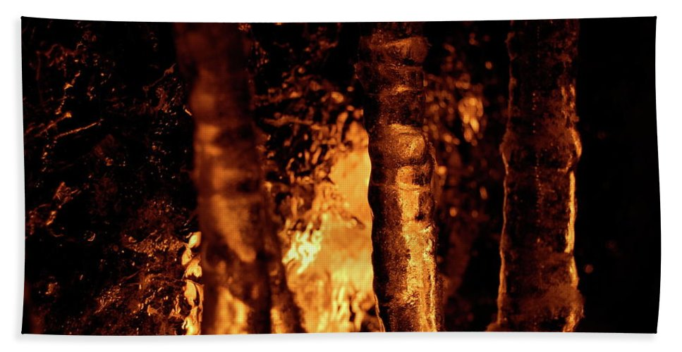 Fire Hand Towel featuring the photograph Jammer Fire And Ice 022 by First Star Art