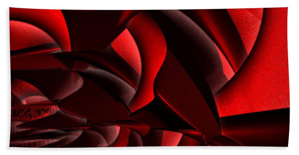 First Star Art Bath Sheet featuring the digital art Jammer Rose 005 by First Star Art