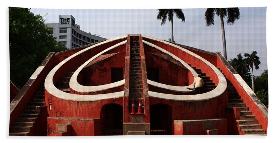 India Hand Towel featuring the photograph Jantar Mantar - New Delhi - India by Aidan Moran