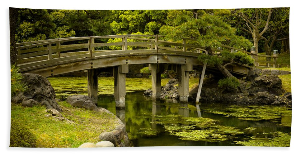 Japan Bath Towel featuring the photograph Japanese Garden Tokyo by Sebastian Musial