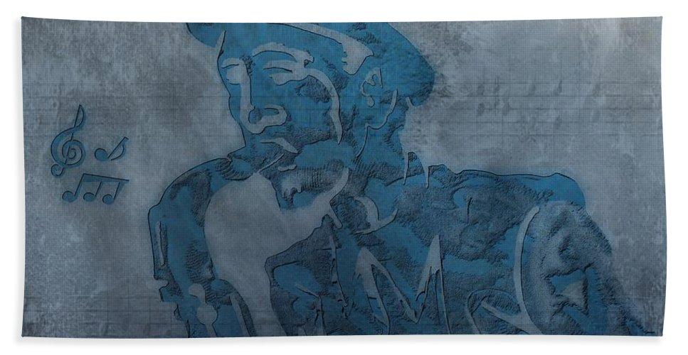 Jazz Saxophone Music Hand Towel featuring the digital art Jazz Man by Dan Sproul