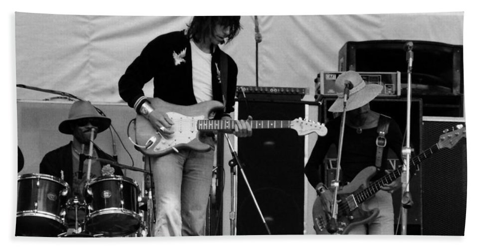 Jeff Beck Hand Towel featuring the photograph Jb #28 by Ben Upham