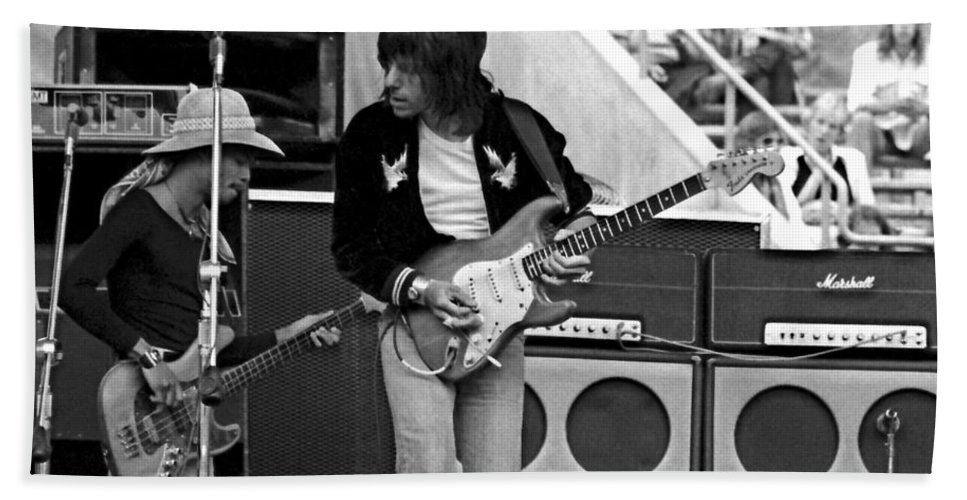 Jeff Beck Hand Towel featuring the photograph Jb #30 by Ben Upham
