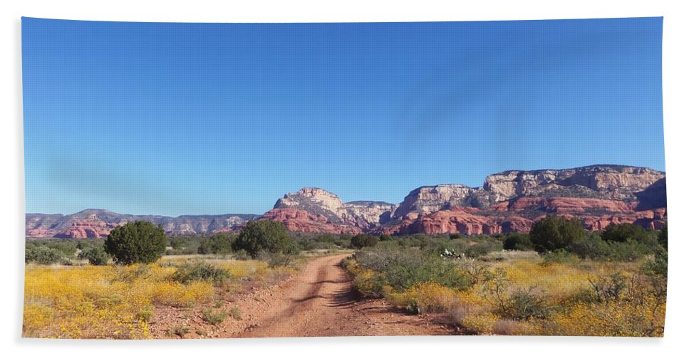 Arizona Bath Sheet featuring the photograph Jeep Trail by Two Bridges North