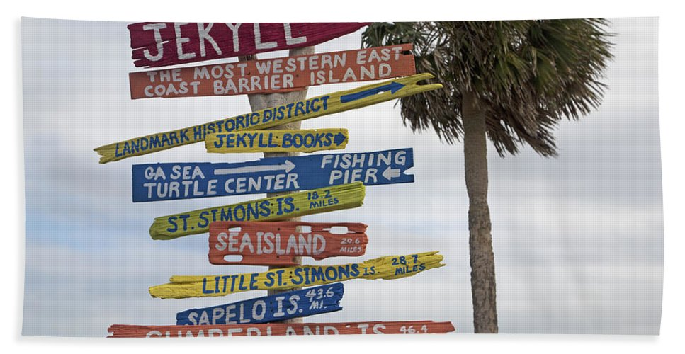Jekyll Hand Towel featuring the photograph Jekyll Island Where To Go by Betsy Knapp