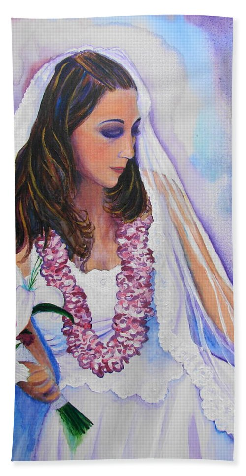 Bride Bath Sheet featuring the painting Jenny by Margaret Bobb