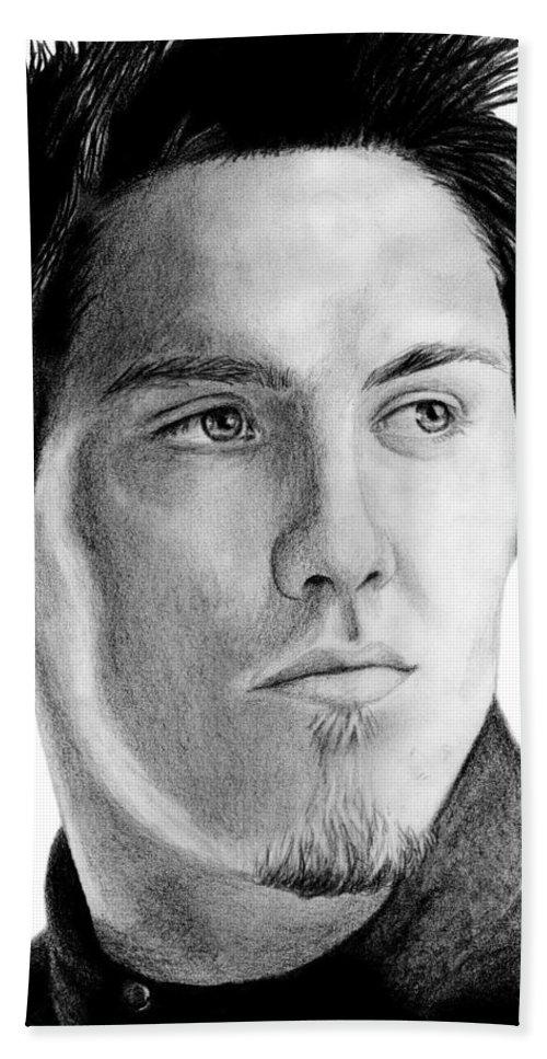 Jeremy Bath Sheet featuring the drawing Jeremy Dunn by Kayleigh Semeniuk