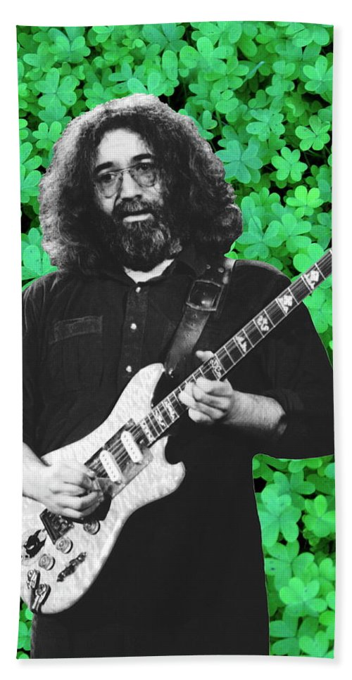 Jerry Garcia Hand Towel featuring the photograph Jerry Clover 4 by Ben Upham