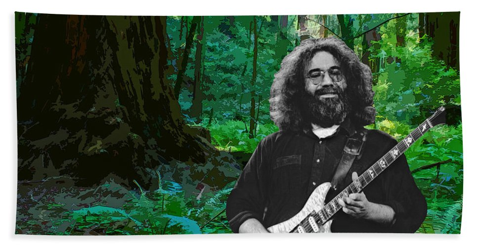 Jerry Garcia Hand Towel featuring the photograph J G In Muir Woods by Ben Upham