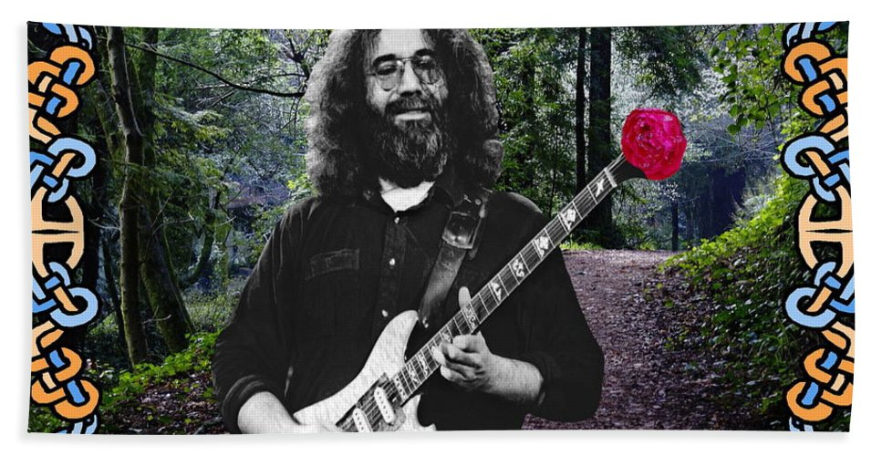 Jerry Garcia Hand Towel featuring the photograph Jerry Road Rose 1 by Ben Upham