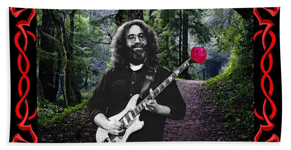 Jerry Garcia Hand Towel featuring the photograph Jerry Road Rose 3 by Ben Upham