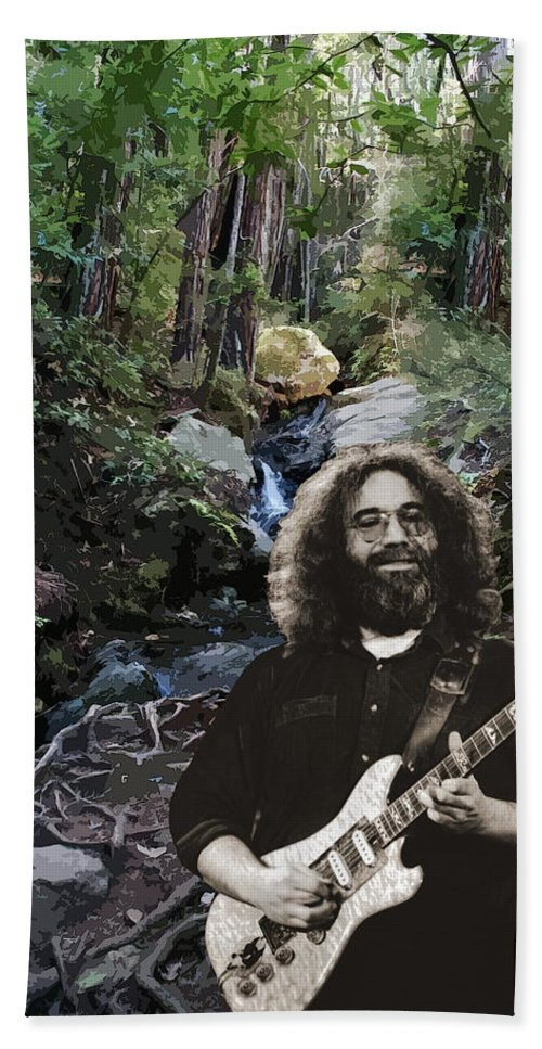 Jerry Garcia Bath Sheet featuring the photograph Jerry's Mountain Music 13 by Ben Upham