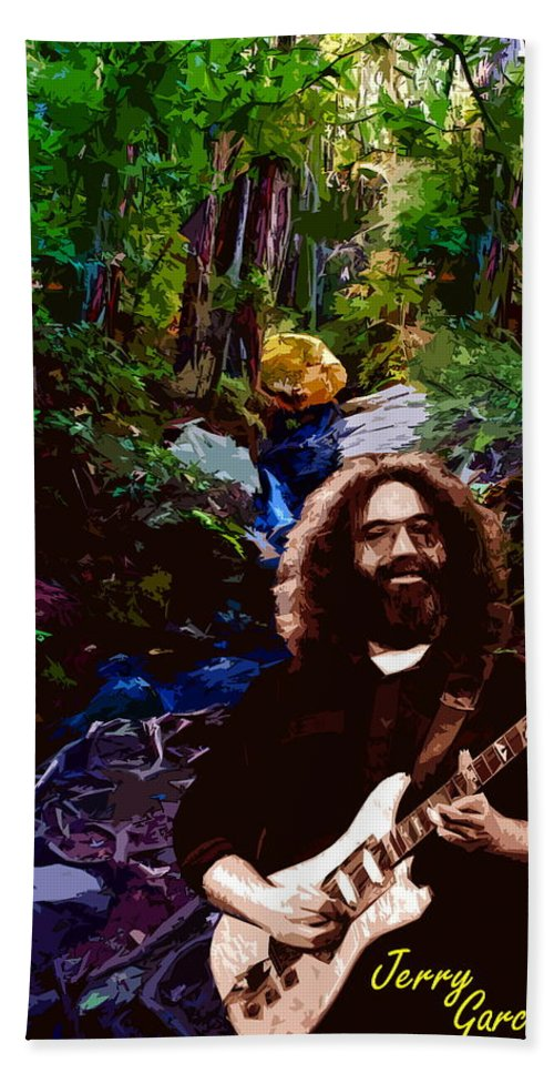 Jerry Garcia Bath Sheet featuring the photograph Jerry's Mountain Music 8 by Ben Upham