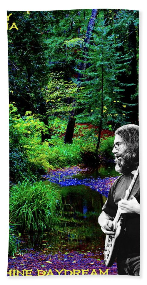 Jerry Garcia Hand Towel featuring the photograph Jerry's Sunshine Daydream by Ben Upham