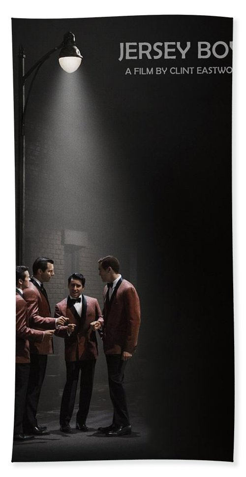 Jersey Boys Hand Towel featuring the photograph Jersey Boys By Clint Eastwood by Movie Poster Prints