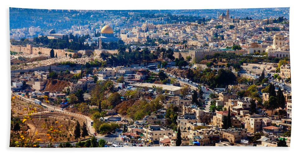 City Hand Towel featuring the photograph Jerusalem by Alexey Stiop