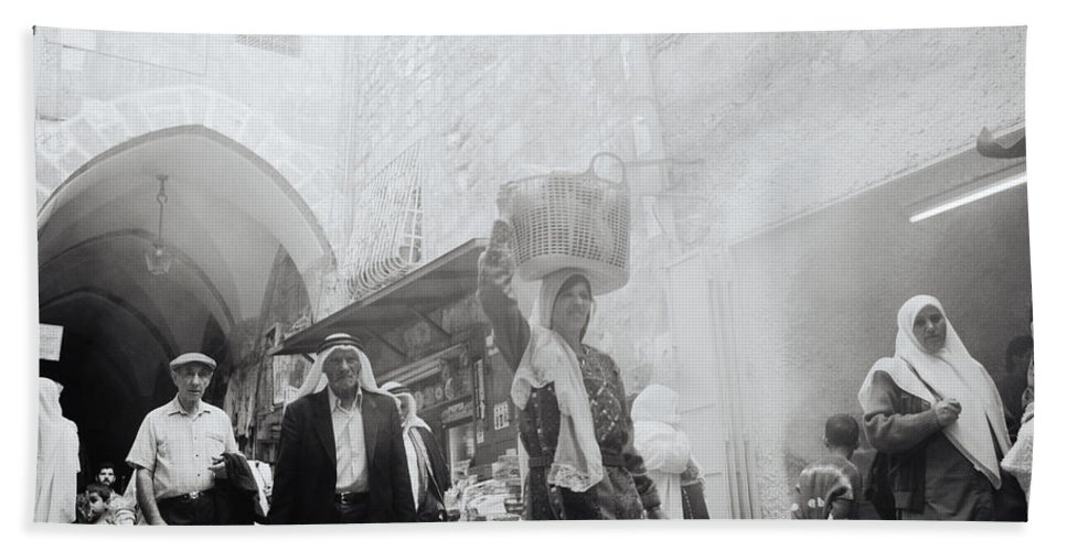 Jerusalem Hand Towel featuring the photograph Old City Of Jerusalem by Shaun Higson