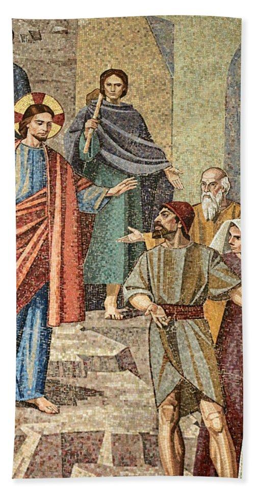 Jesus Bath Sheet featuring the photograph Jesus Visit by Munir Alawi