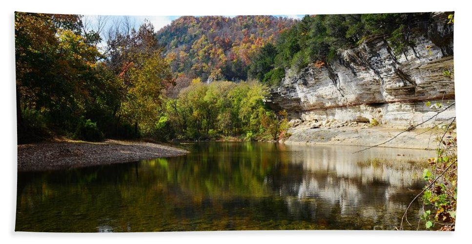 Landscape Hand Towel featuring the photograph Jim Bluff by Deanna Cagle