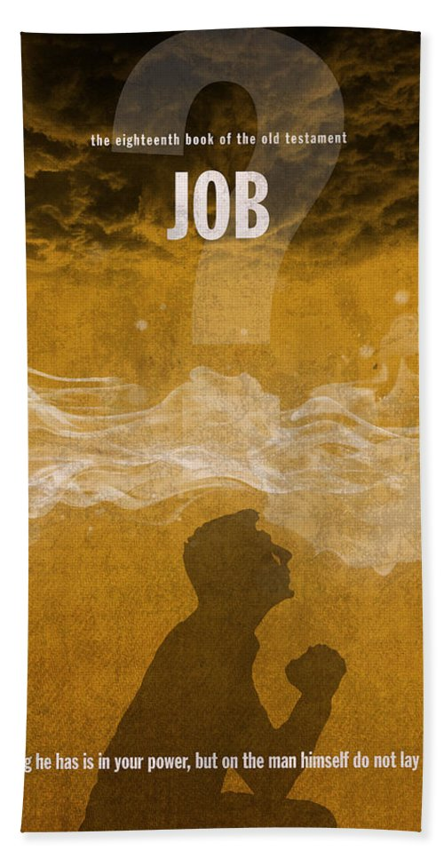 Job Books Of The Bible Series Old Testament Minimal Poster Art Number 18  Bath Towel