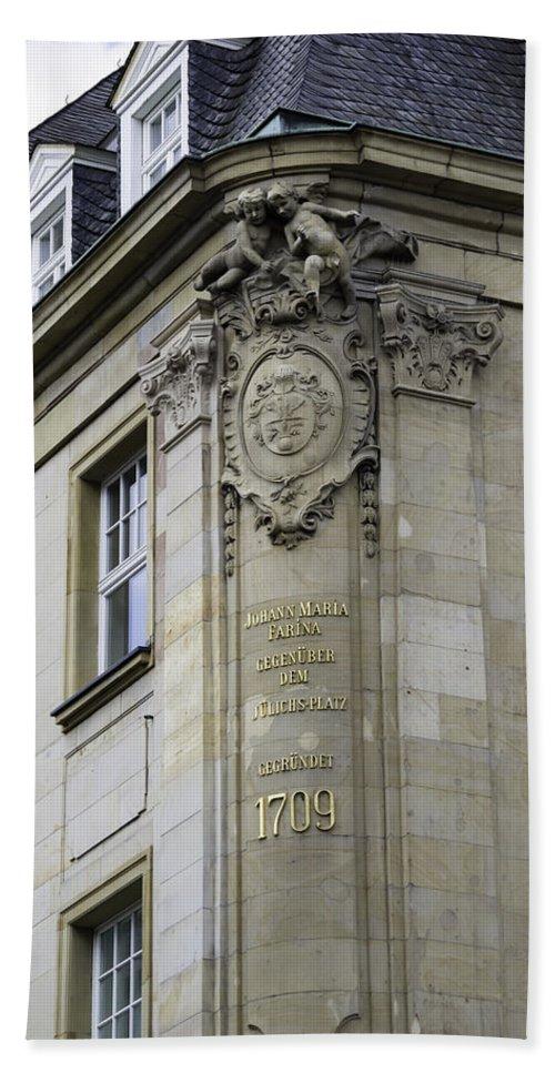 2014 Bath Sheet featuring the photograph Johann Maria Farina Factory 1709 Cologe Germany by Teresa Mucha