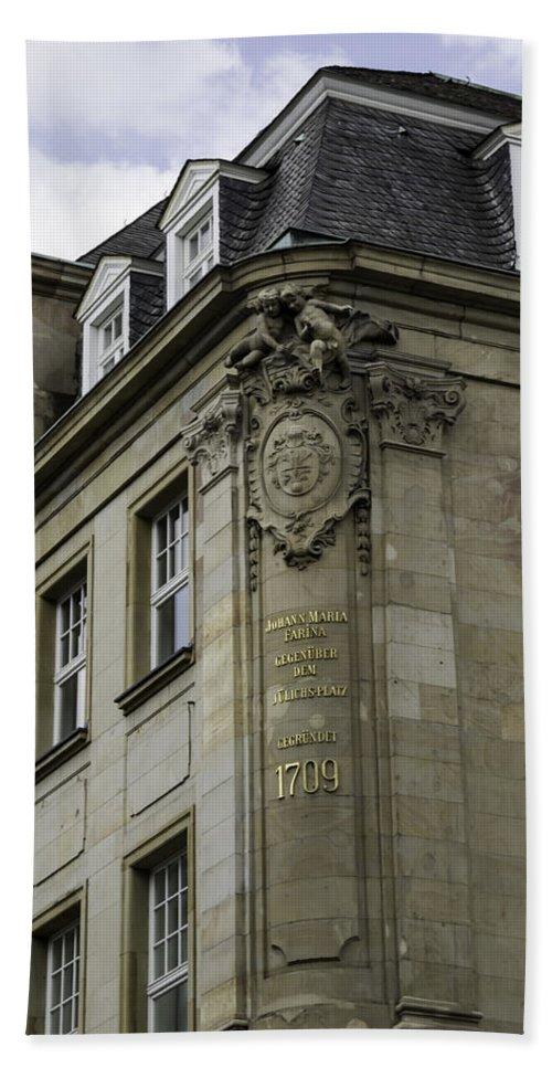 2014 Bath Sheet featuring the photograph Johann Maria Farina Factory Cologne Germany by Teresa Mucha