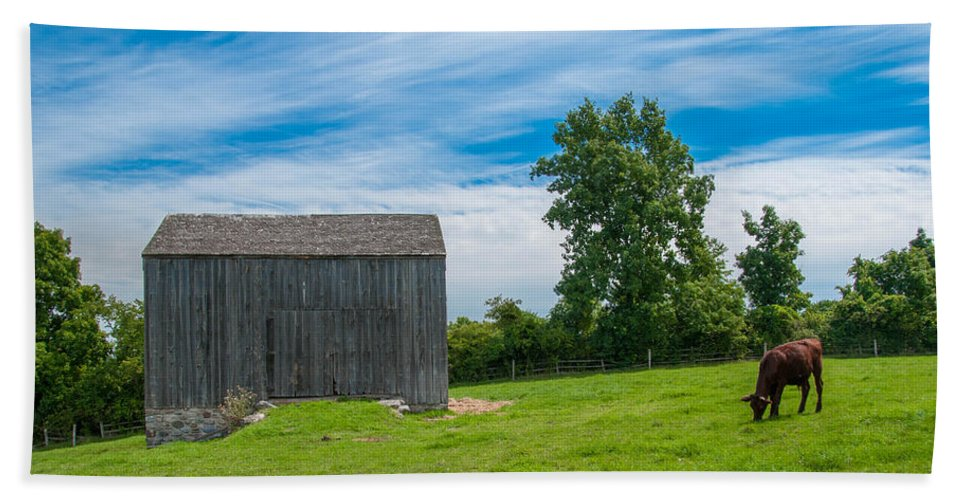Barn Hand Towel featuring the photograph Jones Farm 17811c by Guy Whiteley