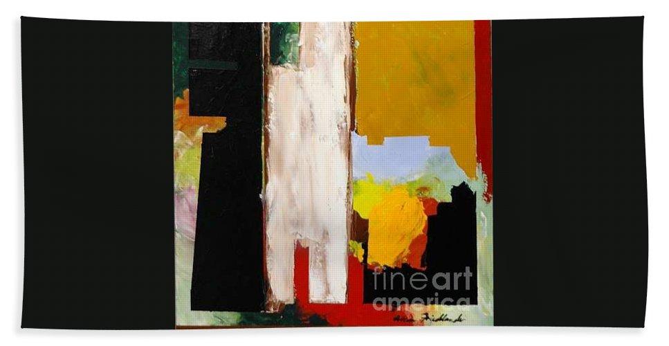 Landscape Bath Towel featuring the painting Jordan Park 511 by Allan P Friedlander