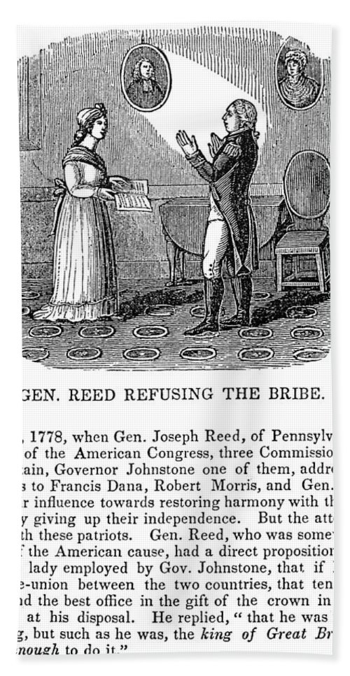 1778 Bath Sheet featuring the photograph Joseph Reed (1741-1785) by Granger