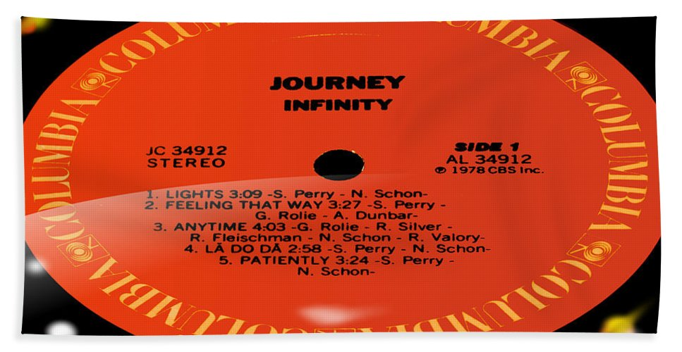 Record Hand Towel featuring the photograph Journey - Infinity Side 1 by Marcello Cicchini