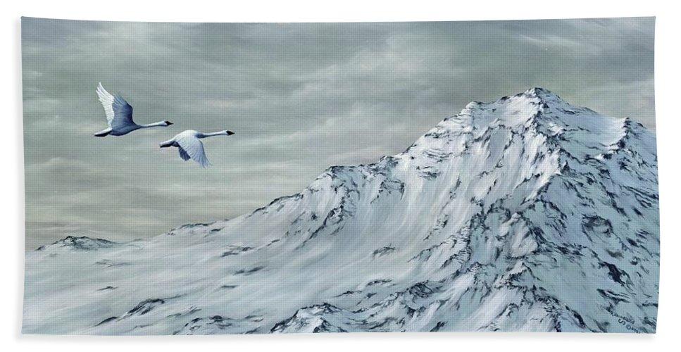 Animals Bath Sheet featuring the painting Journey by Rick Bainbridge