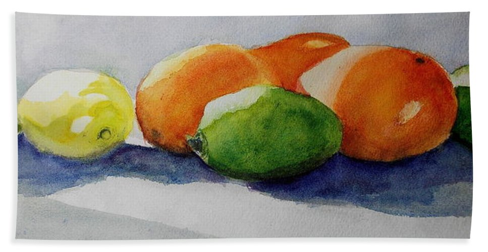 Juices Bath Sheet featuring the painting Juices by Nicole Curreri