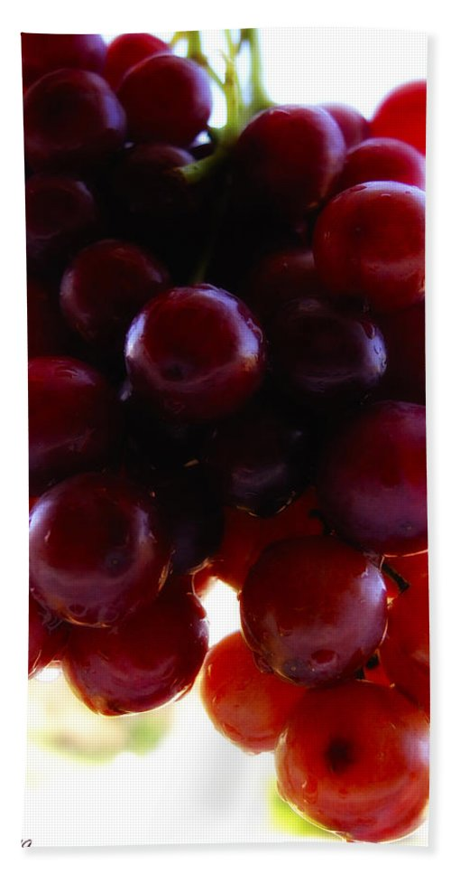 Fruit Hand Towel featuring the photograph Juicy Grapes by Joseph Hedaya