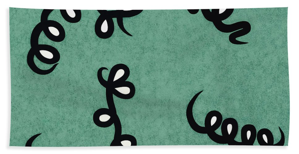 Abstract Bath Sheet featuring the painting Jump For Joy by Vanessa Favero